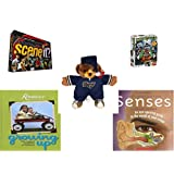 "Children's Fun & Educational Gift Bundle - Ages 6-12 [5 Piece] - Scene It? Sports Powered by ESPN - Lego Games Monster 4 Toy - NFL St. Louis Rams Football Teddy Bear Plush 11"" - Reminisce Growing U"