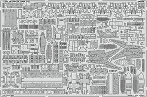 エデュアルド 1/350 HMSベルファスト エッチングパーツ (トランぺッター用) プラモデル用パーツ EDU53210