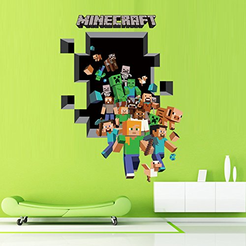 Homecube D Art Wall Sticker The Amazing Minecraft Wall Decal - 3d minecraft wall decals
