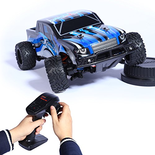 All Terrain RC Cars,LBKR Tech Remote Control Electric Truck,RC Monster Truck 4×4 Off Road,RC Fast Car with 20MPH Speed,RC Truggy 1/24 Scale,2.4Ghz RC Cars for Kids