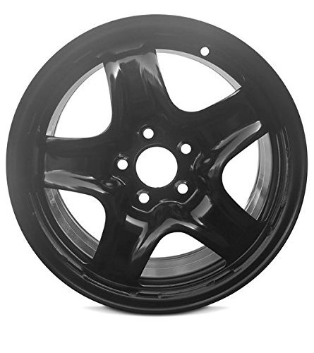 (Road Ready Car Wheel For 2007-2008 Chevrolet Cobalt Pontiac G5 2007-2011 Chevy HHR 2006-2008 Chevy Malibu 16 Inch 5 Lug Black Steel Rim Fits R16 Tire - Exact OEM Replacement - Full-Size Spare)