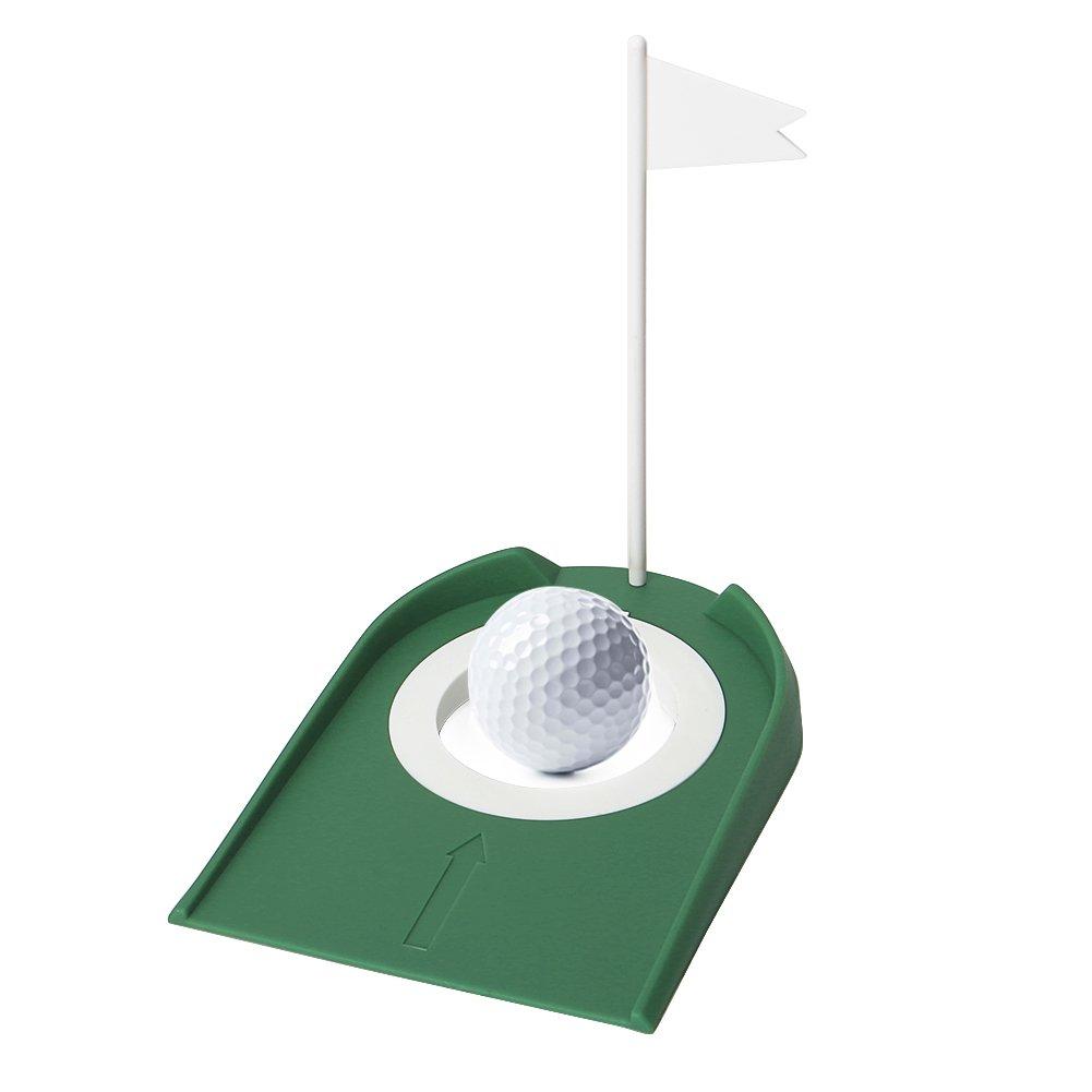 echeer Golf Putting Practiceカップ、ゴルフPutting穴ドアストッパーChippingトレーニング補助キット裏庭&インドアOffice PracticeポータブルゴルフPutting Travel Set   B07D363Z44