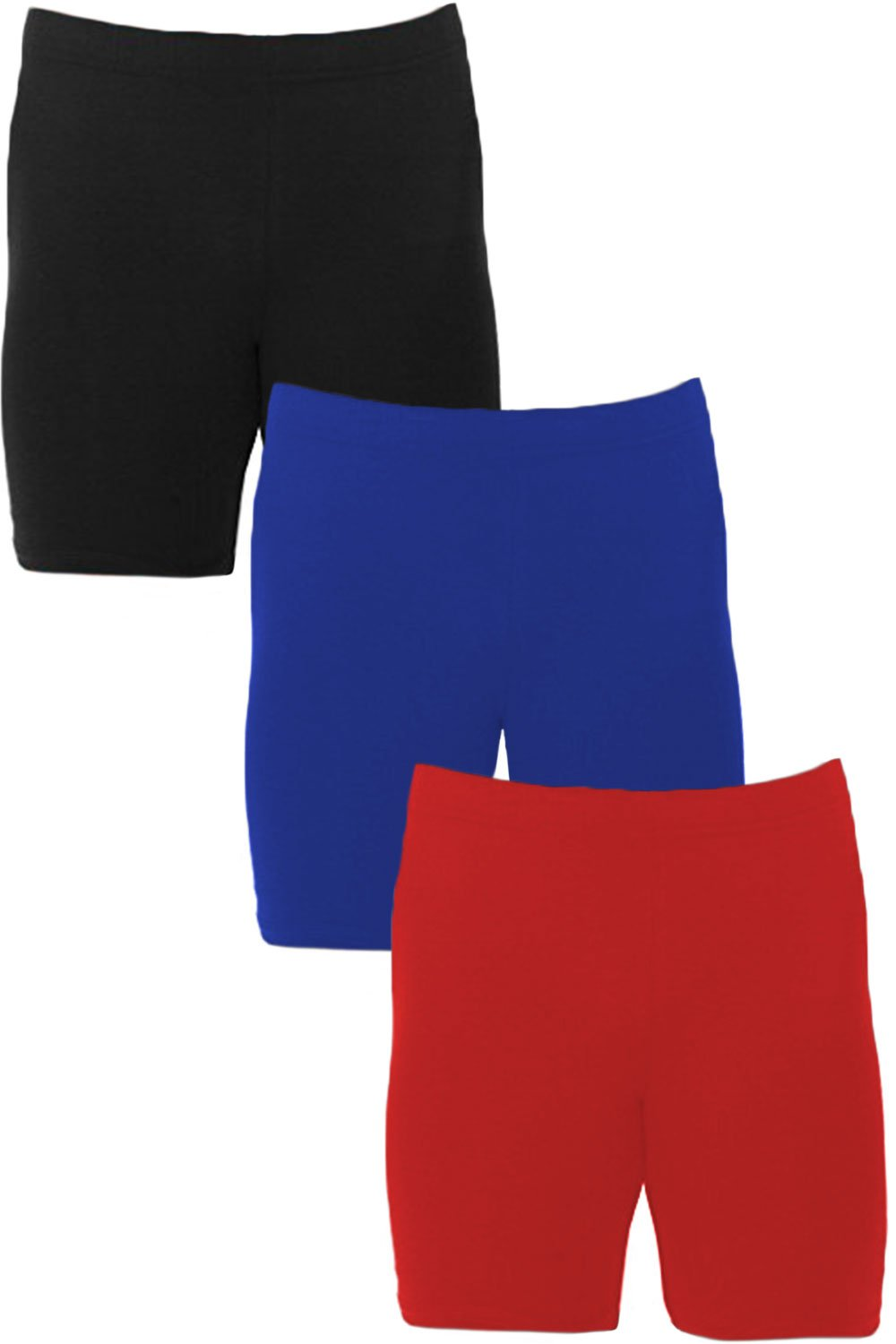 Men's Extreme Core-Champion True Double Dry Compression Short (Small, 3 Pack Black/Red/Royal)