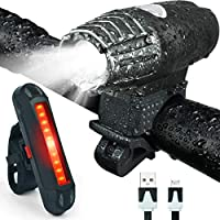 Bonnevie USB Rechargeable Bike Light Set,1500mA Powerful...
