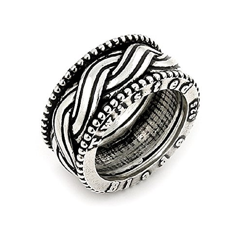 Twisted Blade 925 Sterling Silver Woven Band Ring Size 7 by Buy For Less