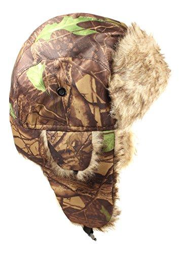 Elk Trapper (Hunters Camo Hats - Russian Winter Style - Trapper Type Earflap Hat (Elk))