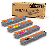 ONLYU Compatible TN221 TN225 Toner 4 Packs Replacement for Brother TN221 TN225 Toner Work with MFC-9130CW MFC-9330CDW MFC-9340CDW HL-3140CW HL-3170CDW