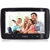 Headrest DVD Player Portable DVD Headrest Monitor For Car 1080P 10.1 Inch Big Screen With Digital Touch Button HDMI USB SD Port eRapta EHD101 Black