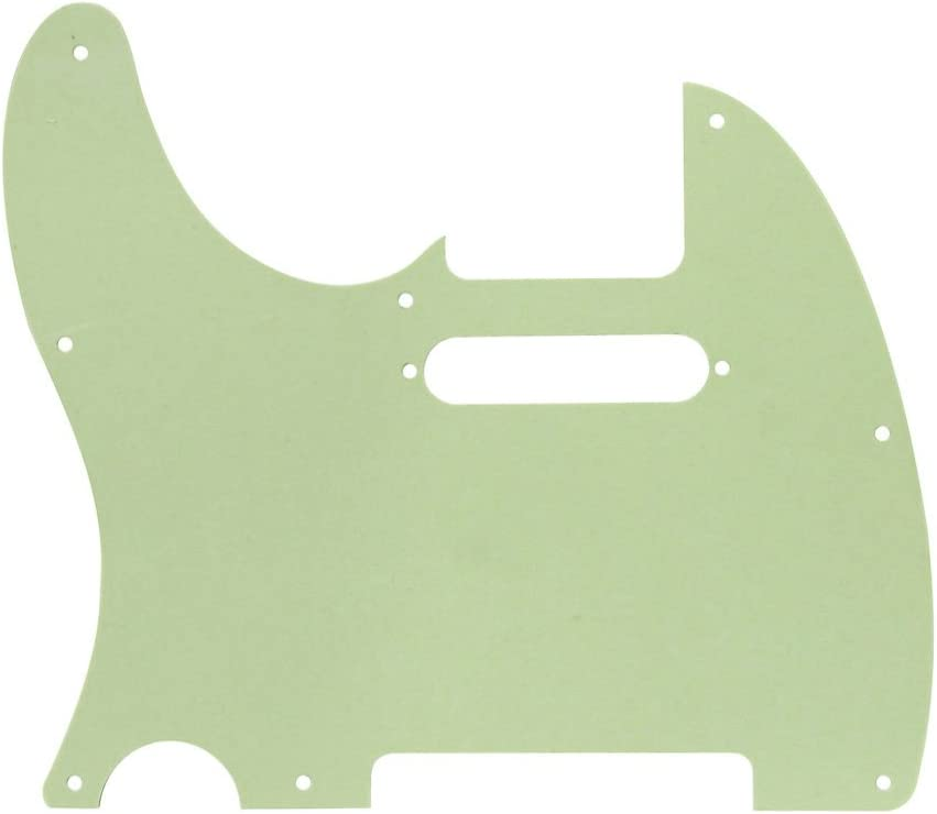 IKN 8 Hole Tele Pickguard Front Scratch Plate with Screws Fit USA//Mexican Fender Standard Telecaster Pickguard Replacement,4Ply Light Pink Pearl