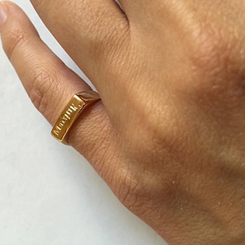 Engraved ring, Personalized Ring, men / women ring, Initial ring, Gift for women, Monogram Initial Ring, letter Ring , Pinky ring (Ring Pinky)