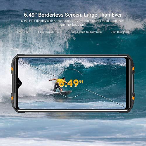 OUKITEL WP8 Pro Unlocked Rugged Smartphone Android 10 4GB RAM + 64GB ROM MT6762D,IP68 5000mAh 6.49 inch Dual SIM 16MP Rear Triple Camera NFC Global Version (Orange2021)