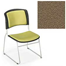 Office Master Stacking Collections ST400F Ergonomic Upholstered Seat - No Armrests - Grade 1 Fabric - Spice Nutmeg Brown 1163 PLUS Free Ergonomics eBook
