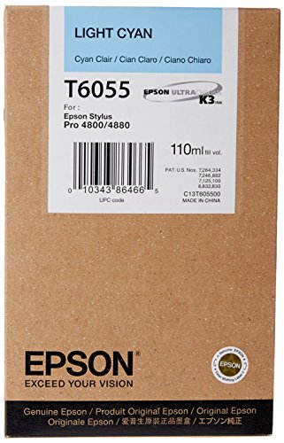 Epson T605500 UltraChrome K3 110ml Light Cyan Cartridge (T605500)