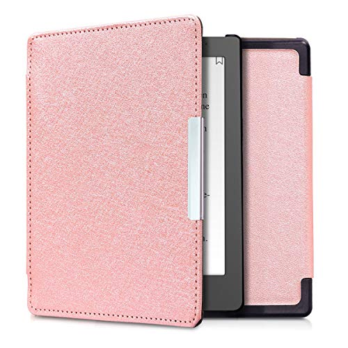 kwmobile Case for Kobo Aura Edition 1 - Book Style PU Leather Protective e-Reader Cover Folio Case - rose gold by kwmobile
