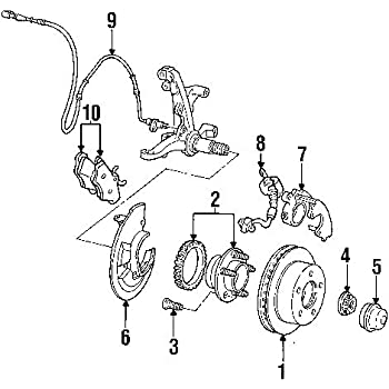 Amazon Com Ford Brake Hose Assembly Ae5z 2078 F Automotive