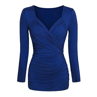 Sweatshirt Cebbay Haut Chemisier plissé T Femme Pull Shirt Sweater qtZtw