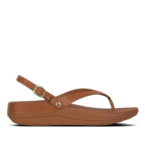 Fitflop Leather SandalsSandalias Con Strap Abierta Flip Back Punta nm0w8N