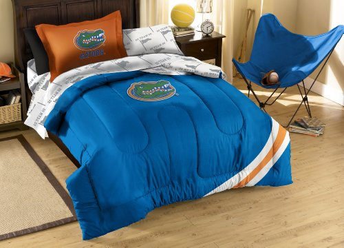 NCAA Florida Gators Twin Bed in a Bag with Applique Comforte