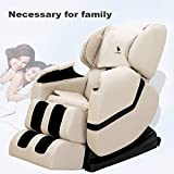 Product review for Khaki Deluxe Full Body Shiatsu Massage Chair Recliner ZERO GRAVITY Foot Rest