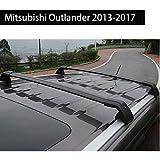 Fit for Mitsubishi Outlander 2013-2017 Lockable Baggage Luggage Racks Roof Racks Rail Cross Bar Crossbar - Black