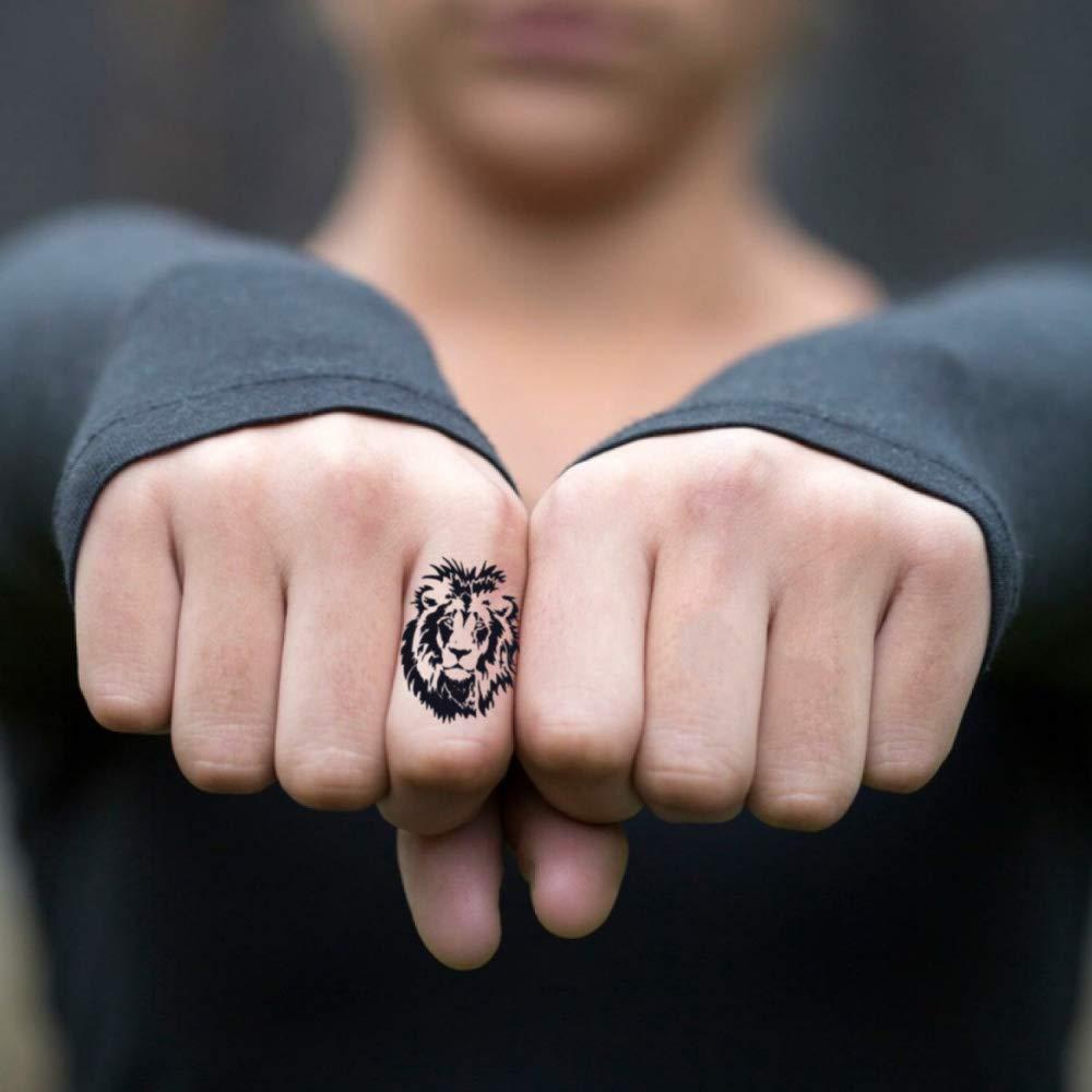 Amazon.com : Cara Delevingne Lion Temporary Fake Tattoo Sticker (Set ...
