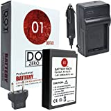 DOT-01 Brand Olympus PEN E-PL9 Battery and Charger for Olympus PEN E-PL9 Mirrorless and Olympus E-PL9 Battery and Charger Bundle for Olympus BLS50 BLS-50