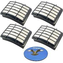 HQRP 4-pack HEPA Filter for Shark Navigator UV540 NV358 NV391 NV390 series Lift-Away Professional Upright Vacuum Cleaner, XHF350 Replacement + HQRP Coaster
