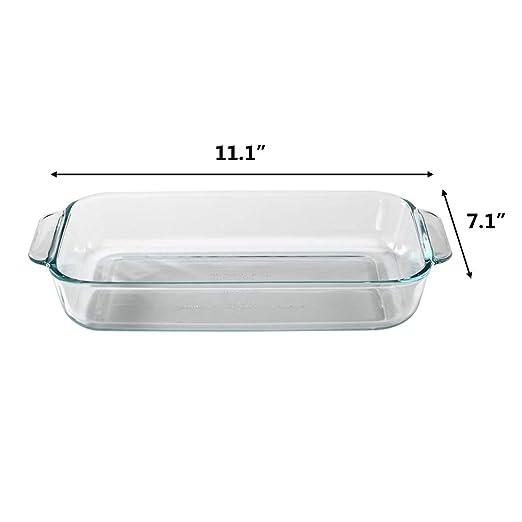 Amazon.com: 2.2 Qt - Bandeja para hornear de cristal ...