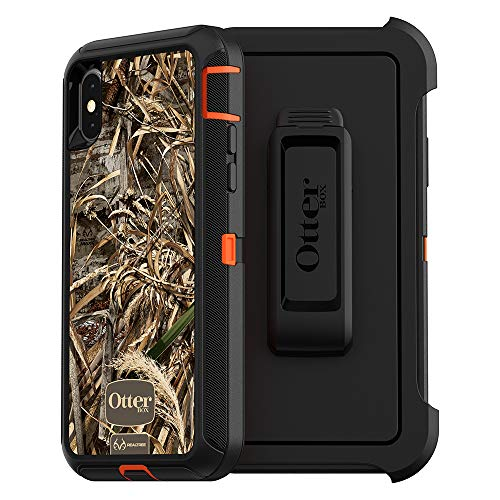 OtterBox DEFENDER SERIES Case for iPhone Xs & iPhone X - Retail Packaging - RT MAX 5 HD (BLAZE ORANGE/BLACK/MAX 5 HD GRAPHIC)