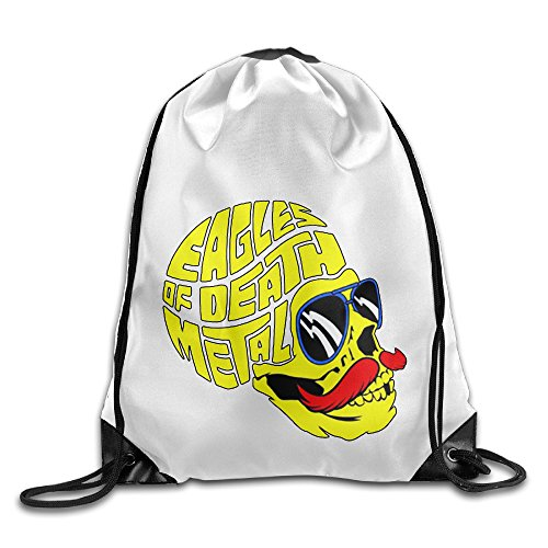 Bekey Eagles Of Death Metal Drawstring Backpack Sport Bag For Men & Women For Home Travel Storage Use (Swiss Army Travel Blazer)