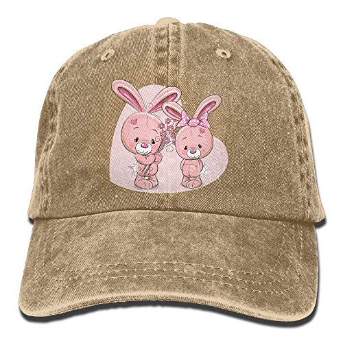 Hat Rabbit for Cowboy Men Cowgirl Sport Women Cute Skull Cap Hats Pink Denim FFwOrdxSq