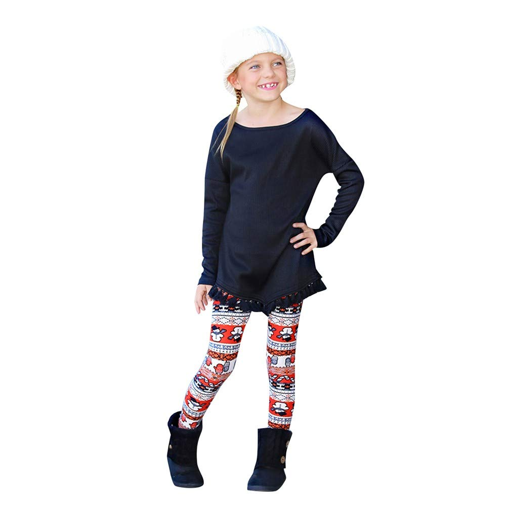 AKwell Mommy Me Christmas Snowflake Elk Print Stretchy Leggings Mother Daughter Family Matching Pants
