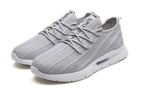 No.66 Town Men Flyknit Sneakers Walking Running Shoes Grey