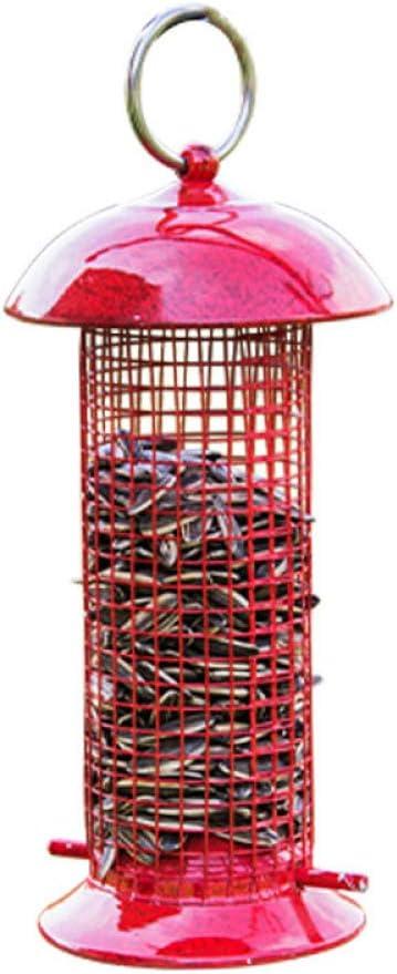 Comedero Pajaros Exterior Colgante, Comedero Colgante Para Pájaros - Para Exteriores - Metal Para Balcón, Pajarera, Pajarera, Para Pájaros Silvestres,Pink
