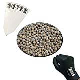 Geolite Clay Pebbles 100% Natural Clay Grow Media, 1 Gallon + Gloves & Stakes