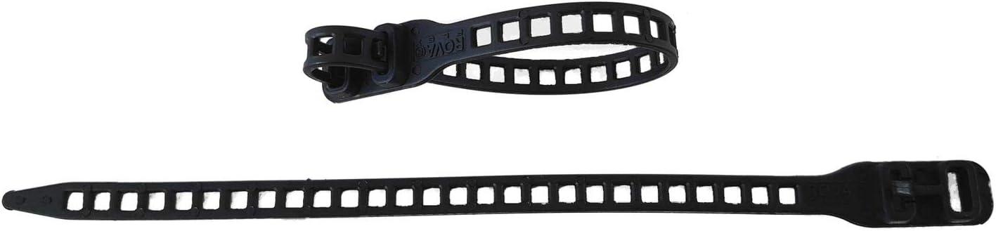Farbe:Gruen netproshop 10 x Soft Flexbinder 11x340mm Pflanzenbinder Kabelbinder Schwarz oder Gr/ün