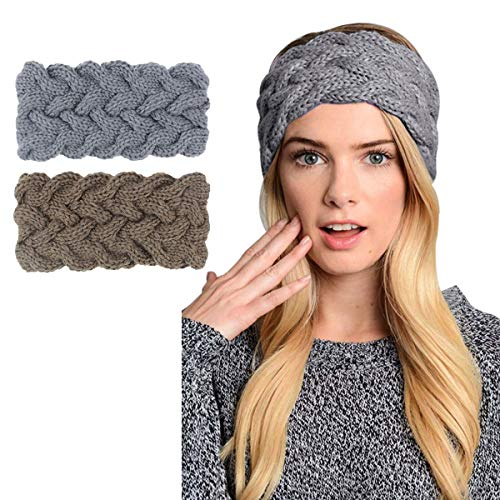 Womens Winter Knitted Headband - Crochet Twist Hair Band Turban Headwrap Hat Cap Einter headband Ear Warmer