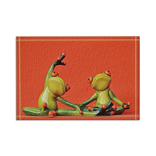 NYMB Cartoon Frog Creative Design Bath Rugs, Non-Slip Floor Entryways Outdoor Indoor Front Door Mat,15.7x23.6in Bath Mat Bathroom Rugs - Frog Bath Rugs