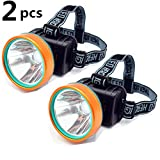 2Pcs Waterproof 50W 2600ft Bright Range Keep Working 26+hrs LED Headlamp Torch Outdoor Rechargeable Headlight for Camping Hunting Fishing high brightness Headlight (2pcs Pack)