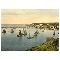 Devon, Brixham, Trawlers - English Photochrome - EPC101 Superior Canvas A2 Size