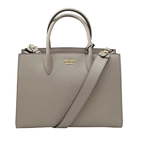 Prada-Biblioteque-Clay-Gray-Leather-Tote-Bag-With-Shoulder-Strap-1BA153-ArgillaTalco
