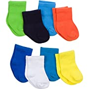 Gerber Baby 8 Pack Snug-fit Crew Sock,Solids, 0-6 Months