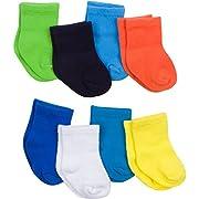 Gerber Baby 8 Pack Snug-fit Crew Sock, Solids, 6-12 Months