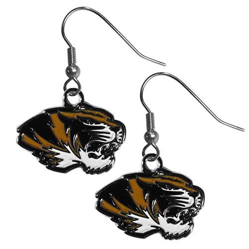NCAA Missouri Tigers Chrome Dangle Earrings, Metal