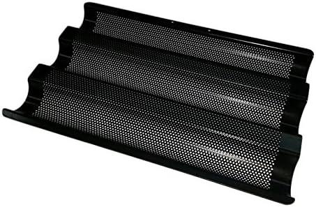 Backblech für 4 Baguette Backform antihaft Brotbackform ideal für den Thermomix