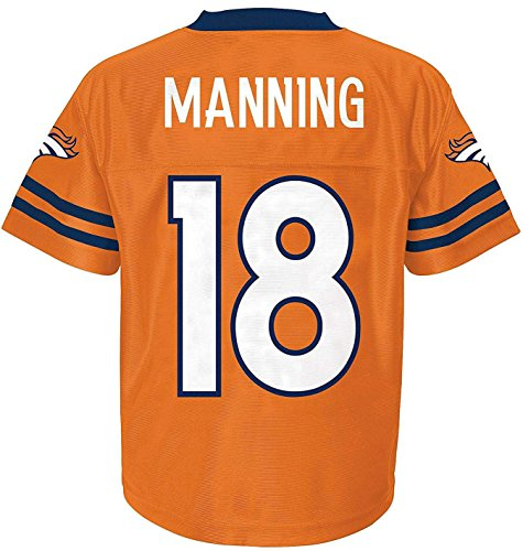 Peyton Manning Nfl Jersey - Peyton Manning Denver Broncos Orange Youth NFL Player Home Jersey (X-Large 18/20)