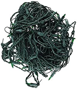 Noma/Inliten-Import Holiday Wonderland 150ct Green Net Light Set 562134 Christmas Lights Net Lights/Tree wrap
