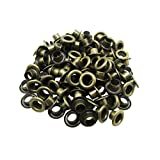 Amanaote 6mm Internal Hole Diameter Bronze Eyelets Grommets with Washer Self Backing Pack of 150 Sets
