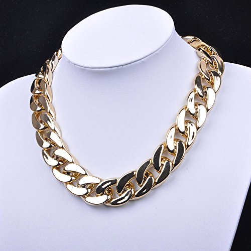 Fashion Jewelry Crystal Chunky Statement Chain Women Pendant Necklace Bib Choker (Cosplay Ideas For Big Guys)