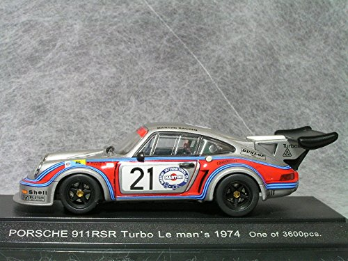 Amazon.com: Porsche 911 RSR Turbo 74 Le Mans 24hr #21 1/43 Scale Diecast Model: Toys & Games
